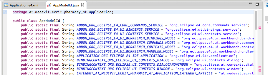 ExportIdHandler OutputClass AppModelId.java